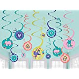 Amscan Sloth Spiral Hanging Decorations Value Pack 12 Pieces