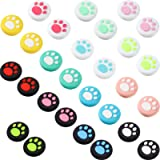 28 Pieces Cat Thumb Grips Caps Replacement Cat Claw Joystick Cap Silicone Cat Analog Stick Cover Compatible with PS5 PS4 PS3