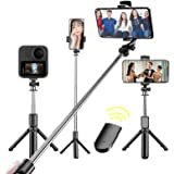 Tripod Bluetooth Selfie Stick, Extendable Tripod Stick with Wireless Remote Selfie Stick Tripod for Phone from 3.5 inches to
