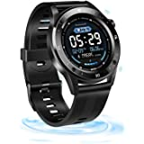Fitness Tracker, SZMDLX Smartwatch Touch Activity Tracker Smart Bracelet, GPS Remote Control Camera Weather Forecast Heart Ra