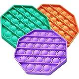 Push Pop Fidget Toy, Push Pop Bubble Fidget Sensory Toy, Silicone Autism Special Needs Stress Relief Toy, Great Fidget Pack S