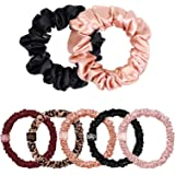 Slip Pure Silk Scrunchies - Limited Edition, Plum Rose, 7 Count