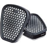 3M Organic Vapor Cartridge/Filter 60921, P100 Respiratory Protection (Pack of 2)