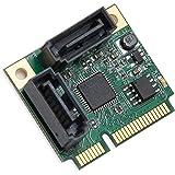 I/O Crest Mini PCI-e PCI Express 2 Port SATA III RAID Controller Half Size Components Other SI-MPE40095