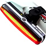 Ultra Bright Bike Light Blitzu Cyborg 168T USB Rechargeable Bicycle Tail Light. Red High Intensity Rear LED Accessories Fits