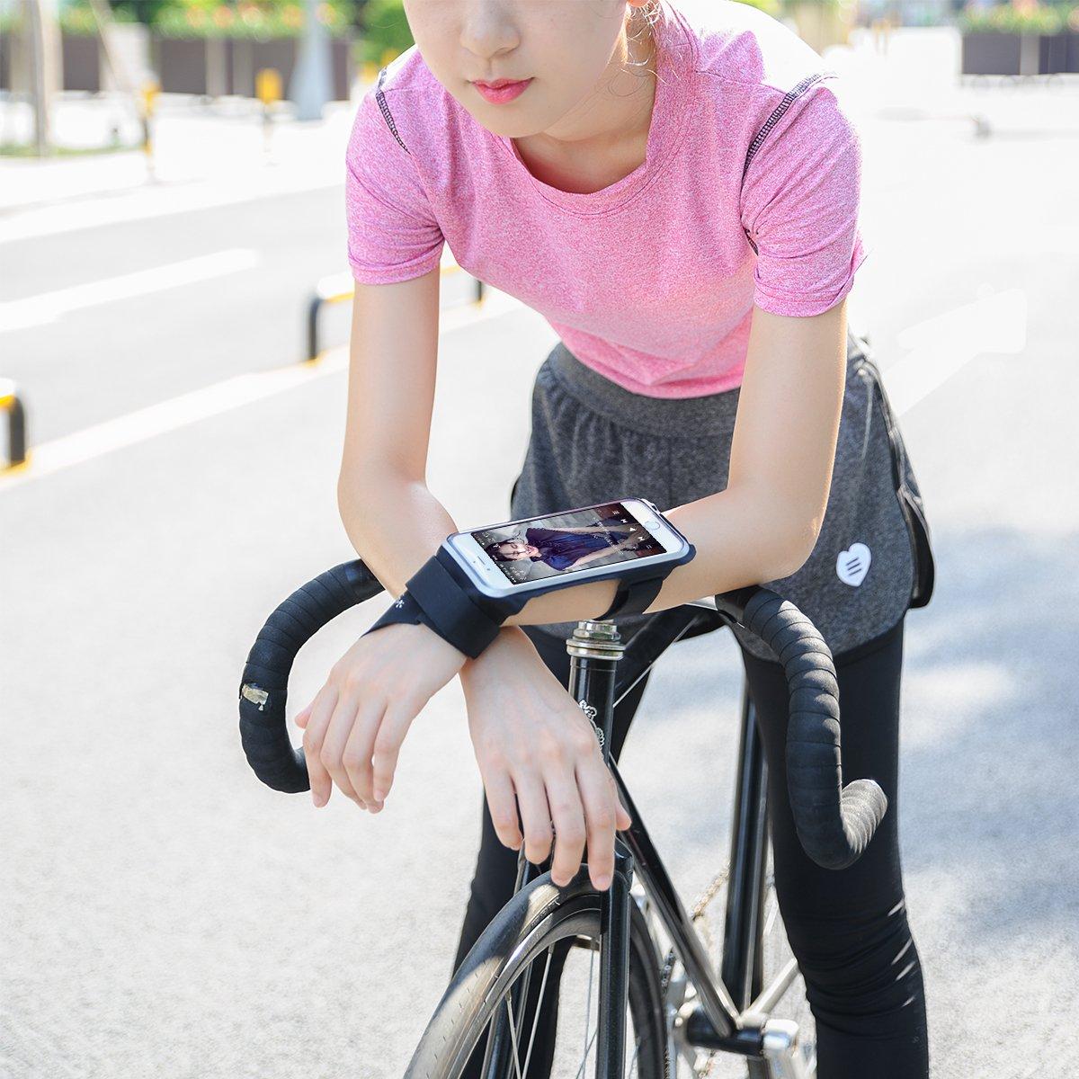LENTION サイクリング専用アームバンド スマホ用 前腕 タッチスクリーン 防水 調整可能 夜間反射