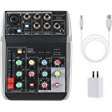 Phenyx Pro 4-Channel Audio USB Mixer, 4-Input, 3-Band EQ, Compact Size With Effects And USB Audio Interface To Computer/PC, I