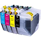 Hehua Compatible Brother LC3319 LC3317 LC-3319XL LC-3317XL Ink Cartridge High Yield Replacement for Brother MFC-J5330DW MFC-J