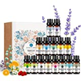 RAINBOW ABBY Top 15 Essential Oil Set, 100% Pure Oils-(Sandalwood,Lavender,Tea Tree,Chamomile,Eucalyptus,Rose,vetiver,Orange,