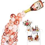 "Pop The Champagne Balloon Garland Kit, Rose Gold Champagne Bottle Balloon Kit 2Pcs 40"" Champagne Bottle Balloon & 85Pcs Assor"