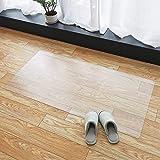 Marvelux キッチンマット クリア 透明マット 1.5mm厚 拭ける PVCマット 床暖房対応 お手入れ簡単 キッチクリアマット ソフト エンボス加工 カットできる サラっとした手触り 清潔 ハードフロア/畳/フローリング対応 台所マット 透明
