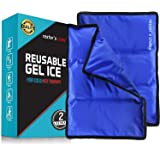 Gel Cold & Hot Pack (2 Pack)- 11x14 in. Reusable Warm or Ice Packs for Injuries, Hip, Shoulder, Knee, Back Pain - Hot & Cold