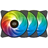 Cooler Master MasterFan MF120R Addressable RGB ARGB 3-in-1 Pack 120mm Fans - Black Frame - R4-120R-203C-R1