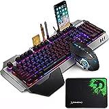 FELiCON RGB Gaming Keyboard and Mouse Sets K618 Wired 15 kinds of Backlit 104 Keys Hand rest Usb Multimedia Gamer Keyboard Me