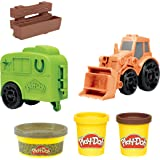 Play-Doh - Wheels Tractor Farm Truck - with Horse Trailer Mold and 3 PlayDoh tubs of Non-Toxic Modelling Dough - Kids Sensory