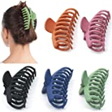 5 Pcs Big Hair Claw Clips, Proxima Direct Nonslip Hair Claw Banana Matte Plastic Girls Hair Claw Clips Jaw, Strong Hold for T