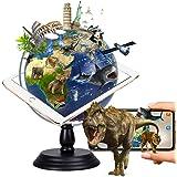 地球儀 子供 AR しゃべる地球儀 球径25cm 日本語 3Dで学べる LEDライト付き AR十二大モジュール 3WAY 知育玩具 ベッドサイドランプ 地勢タイプ 回転可能 真珠フィルム 雰囲気が良い 防水性 先生おすすめ小学生の地球儀 子供 新入学