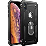 Amuoc Compatible with iPhone X Case,Compatible with iPhone Xs Case, [ Military Grade ] 15ft. Drop Tested Protective Kickstand