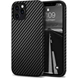 Tasikar Compatible with iPhone 12 Case/iPhone 12 Pro Case Carbon Fiber Leather Design with TPU Hybrid Slim Case Compatible fo