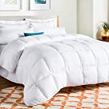 Linenspa All-Season Down Alternative Quilted Comforter - Hypoallergenic - Plush Microfiber Fill - Machine Washable - Duvet In