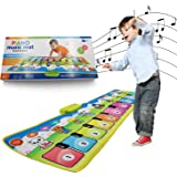 KITTIUS Music Piano Mat for Kids,Musical Keyboard Animal Blanket Touch Playmat Electronic Music Play Blanket Dance Mat Early