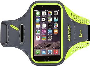 ランニングアームバンド スポーツ用 アームバンドケース 鍵入り カード収納 超薄型軽量 調節可能 防汗 縫い目なし iPhoneX、iPhone6/7/8plus、Samsung,Androidなど 5.5インチまでのスマホに対応スポーツ用ランニング ポーチ