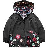 Yealsha Girls Boys Kids Waterproof Hooded Coat Jacket Floral Lightweight Raincoat Outwear