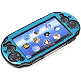 COSMOS ® Light Blue Aluminum Metallic Protection Hard Case Cover for PlayStation PS VITA 2000 & Cosmos Brand LCD Touch Screen