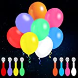 Funow 32 Pack LED Balloons Flashing, 8 Colors Light Up Balloons, Lasts 12-24 Hours for Glow in the Dark Party Supplies, Birth