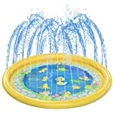 Klsniur Sprinkler Pad for Kids Upgrade Thicken 68' Outdoor Splash Pad for Toddlers Baby Outside Summer Water Play Mat Wading
