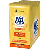 Wet Ones Citrus Antibacterial Hand Wipes, 20 Count (Pack Of 10)