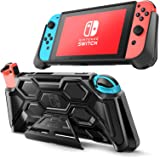Mumba Protective Case for Nintendo Switch, [Battle Series] Heavy Duty Grip Cover for Nintendo Switch Console with Comfort Pad