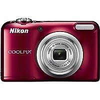 Nikon Digital Camera COOLPIX A10 Optical 5X Zoom 16.1 Megapixels Battery Type, red