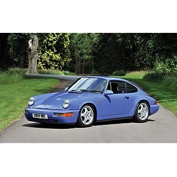絵画風 壁紙ポスター (はがせるシール式) ポルシェ 911 カレラ RS 3.6 ツーリング 964型 1991-93年 Vブルー キャラクロ P964-001W2 (ワイド版 603mm×376mm) 建築用壁紙+耐候性塗料