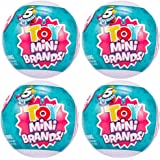 5 Surpise Toys Mystery Capsule Real Miniature Brands Collectible Toy (4 Pack) by Zuru - Series 3