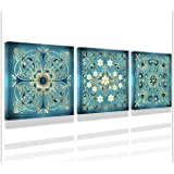 Pictures for bathrooms Vintage Flowers Pattern Bathroom Wall Art Decor Guestroom Decorations Canvas Prints Wall Art for Bedro