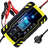 ANHTCZYX Car Battery Charger 8A 12V / 24V Smart Automotive Battery Charger Maintainer with LCD Screen Multi Protections for C