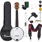 Banjo Ukulele Concert Size 23 Inch Ukelele (10 In 1, Cylinder Inlay)