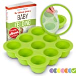 KIDDO FEEDO Baby Food Container Tray with Silicone Clip-On Lid - 9x75ml Easy-Out Pots - Suitable for Freezing and Baking...
