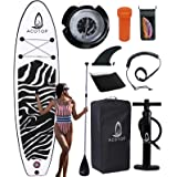 """Inflatable Paddle Boards, 10'6"""" ×33"""" × 6"""" Youth Paddle Board for All Skill Levels, Non-Slip Deck, Double Action Pump, Waterpr"""