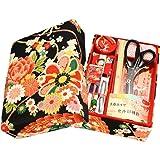 ご結婚御祝や手芸を始めようという方へ 京都発 老舗のお裁縫揃い 14点セット 京都 洛 (黒)