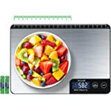 TICWELL Food Scale 33lb Digital Kitchen Scale Weight Grams Oz for Cooking Baking Multifunction Food Scale 1g Precise Graduati
