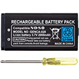 OSTENT 2000mAh Rechargeable Lithium-ion Battery + Tool Pack Kit Compatible for Nintendo DSi NDSi
