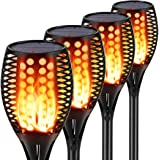 Aityvert Solar Torch Lights, Waterproof Flickering Flame Solar Torches Dancing Flames Landscape Decoration Lighting Dusk to D