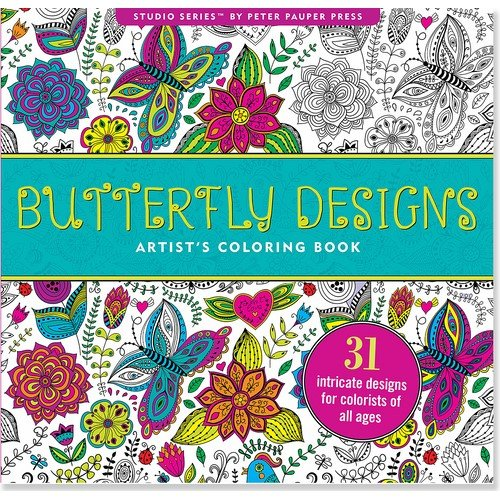 Download Butterfly Designs Artist's Adult Coloring Book (Studio) 1441318380
