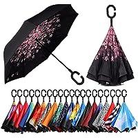 [Amazonブランド] Eono(イオーノ) ダブル レイヤー 反転 傘 リバース 折り 傘 セルフ スタンディング…
