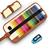 Colored Pencils, COVACURE Premier Color Pencil Set With 36 Colouring Pencils,Sharpener and Canvas Pencil Bag for Kids and Adu