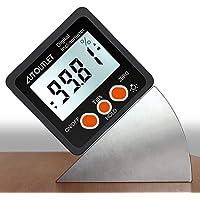 AUTOUTLET デジタル角度計 アングルメーター レベルボックス 水平器 LCDバックライト付き 強力磁石付き 4…