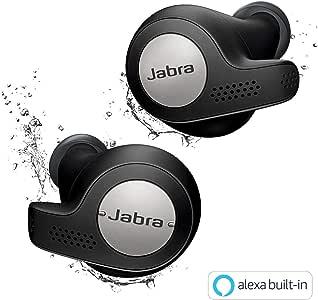 Jabra 完全ワイヤレスイヤホン Elite Active 65t チタンブラック Alexa対応 BT5.0 マイク付 防塵防水IP56 2台同時接続 2年保証 北欧デザイン 【国内正規品】 100-99010002-40-A