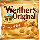 Werther's Original Creamy Filling Bag, Sweet, Creamy Hard Caramels filled with Deliciously Smooth Caramel Cream, 125 g